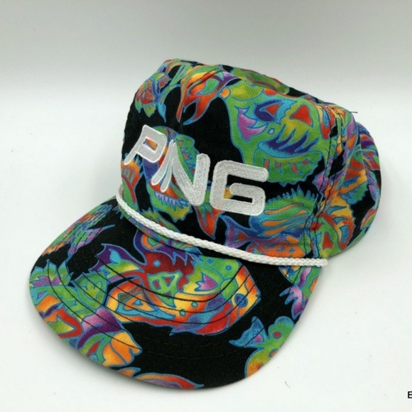 73130bf5827 PING men s HAWAII style colorful Floral Hat. M 5b2938b62beb79d824162161